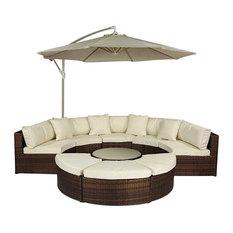 Monaco Stylish Rattan Sectional Semi Circle Sofa Set