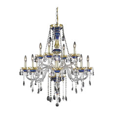 Elegant Lighting 7810G33BE/RC Alexandria Collection Large Hanging Fixture