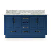 Kendall Vanity With Plinth Base, Blue, 60""