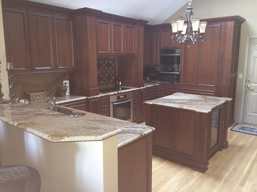 Quartered African Mahogany Kitchen