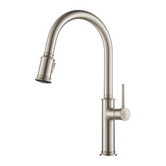 Kraus USA, Inc. - KRAUS Sellette Pull Down 2-Function Kitchen Faucet, Spot Free Stainless Steel - Kitchen Faucets