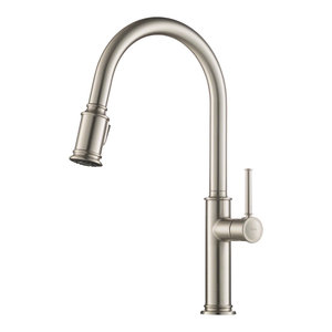Kraus Sellette Pull-Down 1-Handle Kitchen Faucet Spot-Free SS, 2-Function