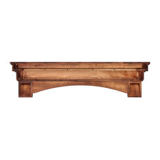 "72"" Distressed Cherry Wood Mantel Shelf"