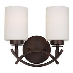 Forte Lighting 2 Light Bathroom Vanity Light in Antique Bronze