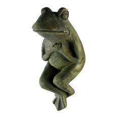 Drama Frog Garden Statue