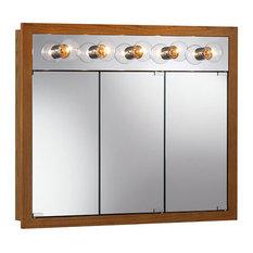 Oak Lighted Medicine Cabinets | Houzz