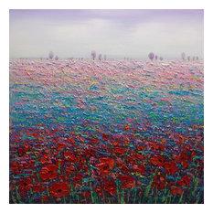 """FlowerBed"" Acrylic Painting, 95x95 cm"