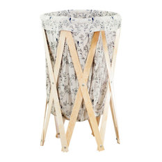 Collapsible Fabric Laundry Hamper, Floral Print
