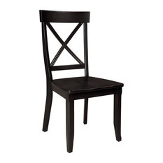 home styles furniture smith xback dining chairs set of 2 black