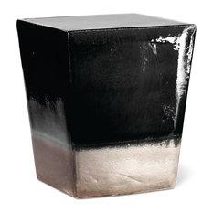 Two Glaze Square Cube Gloss Black