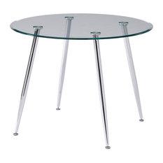 "Patrik 40"" Glass Modern Dining Table"