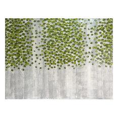 """Wall Decor """"Green Forest"""" Hand Painted Oil Canvas Artwork; Modern Art; Fine Art"""