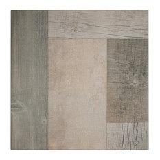 "17.38""x17.38"" Lumber Porcelain Floor/Wall Tiles, Set of 8, Gris"