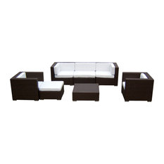 Outdoor Sofa Sectional Wicker 7-Piece Resin Couch Set