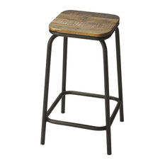 Industrial Chic Bar Stool, Multi-Color