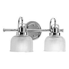 progress lighting progress lighting p2991 15 archie 2 light bathroom light in polished chrome bathroom vanity lighting bathroom traditional