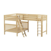 Ball State Sleeps 3 or More Full Loft Bed, Natural