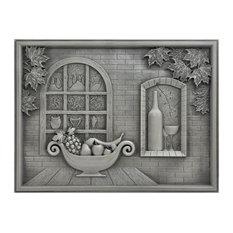 """Metal Mural Heaven Backsplash Tile Antique Nickel, 18""""X 24"""""""