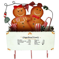 Metal Gingerbread, Box Wall Pocket With 3 Hooks