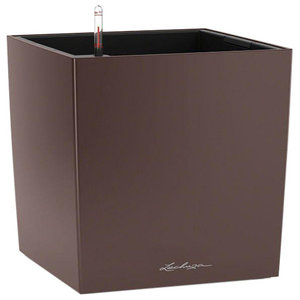 Cube Self Watering Planter, 40x40x40 CM, Expresso