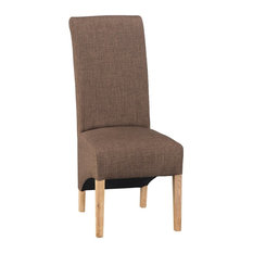 Warwick Fabric Upholstered Dining Chair, Chocolate