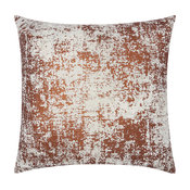 Mina Victory Luminescence Distressed Metallic Pillow, Copper