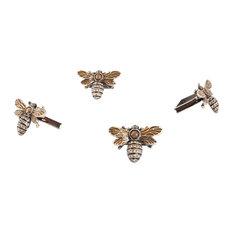 Jeweled Animal Design Napkin Rings, Set of 4, Bumble Bee