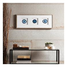 Blue Agate Trio Stone Framed Print