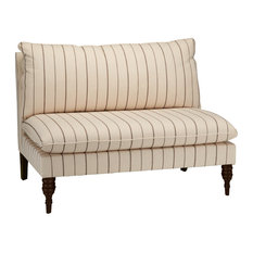 Rivers Armless Love Seat, Fritz Charcoal