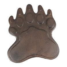Cast Iron Bear Footprint Garden Stepping Stone