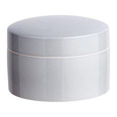 Anne Black Contain Jar, Low, Concrete, Medium