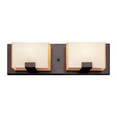 Trans Globe Lighting   Cube 2 Light Halogen Vanity Fixture, Oil Rubbed  Bronze