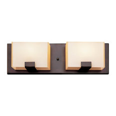 Trans Globe Lighting Cube 2 Light Halogen Vanity Fixture Oil Rubbed Bronze
