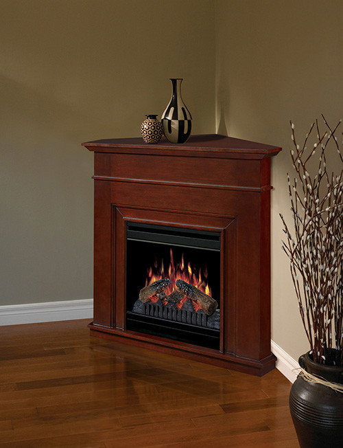 Dimplex - Ricky Cherry Corner Electric Fireplace - DFP3670C - Indoor  Fireplaces - Electric Fireplace Mantel Packages