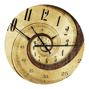 Time Spiral Analog Wall Oversized Contemporary Metal Clock Contemporary Wall Clocks By Design Art Usa