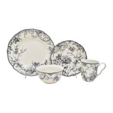 1st Avenue - Adelaide 16-Piece Fine China Dinnerware Set Gray - Dinnerware Sets  sc 1 st  Houzz & 9 Inch Dinner Plate Set | Houzz