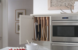 Medallion Cabinets | Custom Tall Cabinet with Adjustable Tray Divider Storage