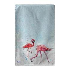 Betsy Drake Funky Flamingos Beach Towel