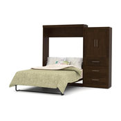 101 in. Queen Wall Bed Kit in Chocolate Finish