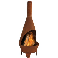Sunnydaze Rustic Chiminea Outdoor Wood-Burning Fireplace Fire Pit, 6'