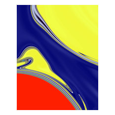 Meandering River I Art Print, 55x37 cm
