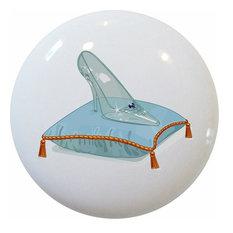 Glass Slipper Fairytale Ceramic Knob