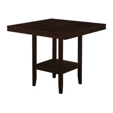 """36"""" Cappuccino Solid Wood, MDF, and Veneer Counter Height Dining Table"""