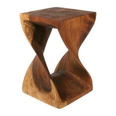 Wooden Twist Table Black Walnut 12 X20