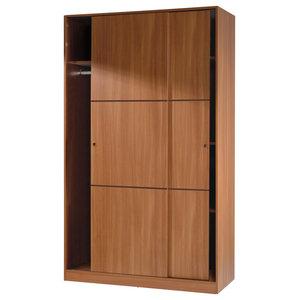 Warda 2 Sliding Doors Chestnut Wardrobe