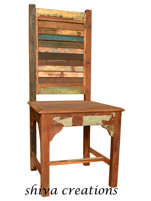 Reclaimed wood chair India - Dining Chairs