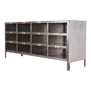 Brooklyn Steel Bookcase/TV Stand