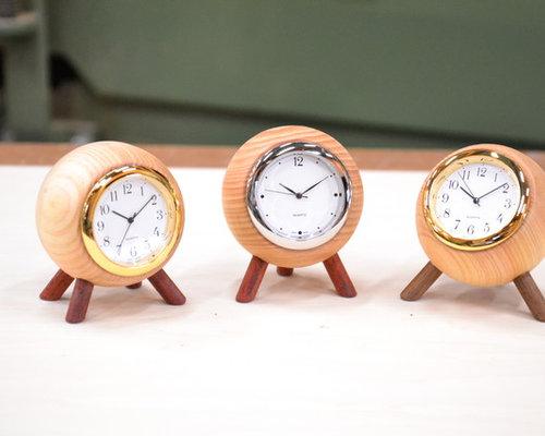 脚付きボール時計 - 置時計