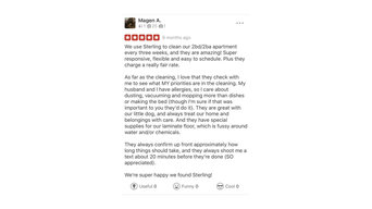 Ventura Biweekly Apartment Cleaning- Five Star Yelp Review