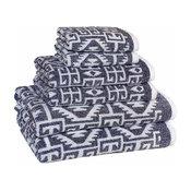 Kula 6-Piece Towel Set, Ocean Blue